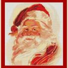 Cross-Stitch Embroidery Color Pattern with DMC thread codes - Santa Claus