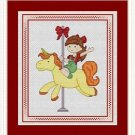Cross-Stitch Embroidery Color Pattern with DMC codes - Cute Carousel