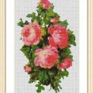 Cross-Stitch Embroidery Color Pattern with DMC codes - Victorian Rose Bouquet