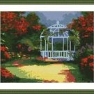 Cross-Stitch Embroidery Color Pattern with DMC thread codes - Summer Gazebo