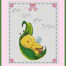Cross-Stitch Embroidery Color Pattern with DMC codes -  Little Baby Bee