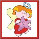 Beautiful Cute Decor Design Collectible Kitchen Fridge Magnet - Angel with Star