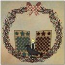 Beautiful Prim Decor Collectible Kitchen Fridge Magnet - Country Life Wreath #3