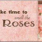 Primitive Country Folk Art Kitchen Refrigerator Magnet - Smell the Roses