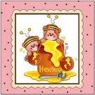 Primitive Country Folk Art Kitchen Refrigerator Magnet - Baby Honey Bears