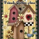 Primitive Country Folk Art Kitchen Refrigerator Magnet - Friends Gather Here #2