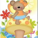 Beautiful Cute Decor Design Collectible Kitchen Fridge Magnet - Fairy Bear #3