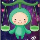 Cute Beautiful Astrology Zodiac Sign Decor Collectible Fridge Magnet - Libra