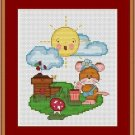 Cross-Stitch Embroidery Color Pattern with DMC codes - Life in the Farm #4