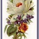 Beautiful Vintage Decor Collectible Kitchen Fridge Magnet - Garden Flowers #3