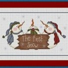 Cross-Stitch Embroidery Color Pattern with DMC thread codes - The First Snow