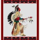 Cross-Stitch Embroidery Color Pattern with DMC thread codes - Native Warrior