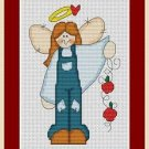Cross-Stitch Embroidery Color Pattern with DMC thread codes - Apple Angel