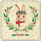 Cute Easter Collectible Kitchen Fridge Refrigerator Magnet - Pretty Flower Bunny