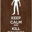 Keep Calm Collectible Art Kitchen Fridge Refrigerator Magnet - Kill Zombies