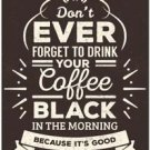 Primitive Country Folk Art Kitchen Refrigerator Magnet ~ Black Morning Coffee