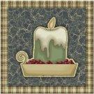 Primitive Country Folk Art Kitchen Refrigerator Magnet - Prim Green Candle