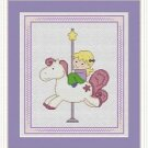 Cross-Stitch Embroidery Color Pattern with DMC codes - Cute Carousel #2