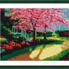 Cross-Stitch Embroidery Color Pattern with DMC thread codes - Oriental Garden