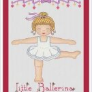 Cross-Stitch Embroidery Color Pattern with DMC codes -  Little Ballerina #2