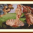 Cross-Stitch Embroidery Color Pattern with DMC codes - The Birth of Venus