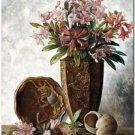 Beautiful Fun Decor Design Collectible Kitchen Fridge Magnet - Vintage Flowers