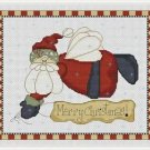 Cross-Stitch Embroidery Color Pattern with DMC thread codes - Angel Santa