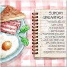 Primitive Country Folk Art Kitchen Refrigerator Magnet - Sunday Breakfast