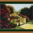 Cross-Stitch Embroidery Color Pattern with DMC thread codes-Garden of the Castle