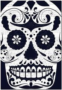 Decor Collectible Kitchen Fridge Magnet - Flower Sugar Skull #9