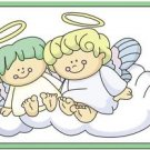 Beautiful Cute Decor Design Collectible Kitchen Fridge Magnet - Angel Sisters #2
