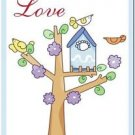 Beautiful Cute Decor Collectible Kitchen Fridge Magnet - Birdhouse & Birdies #6