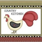 Primitive Country Folk Art Kitchen Refrigerator Magnet - Country Chicken #3