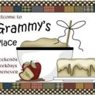 Primitive Country Folk Art Kitchen Refrigerator Magnet - Grammy's Place