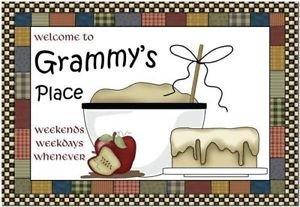 Primitive Country Folk Art Kitchen Refrigerator Magnet - Grammy's Place