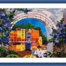 Cross-Stitch Embroidery Color Pattern with DMC thread codes - Morning in Venice