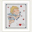 Cross-Stitch Embroidery Color Pattern with DMC codes - Cute Adorable Cupid