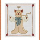 Cross-Stitch Embroidery Color Pattern with DMC codes - Cute Cat Angel