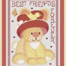 Cross-Stitch Embroidery Color Pattern with DMC codes - Best Friends Forever