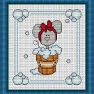 Cross-Stitch Embroidery Color Pattern with DMC codes -  Bath Time #6