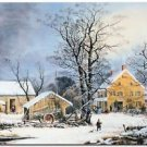 Victorian Christmas Holiday Decor Collectible Fridge Magnet - Country Life