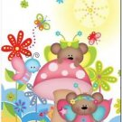 Beautiful Cute Decor Design Collectible Kitchen Fridge Magnet - Fairy Bears