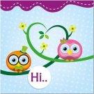 Beautiful Decor Design Collectible Kitchen Fridge Magnet - Cute Owl Friends