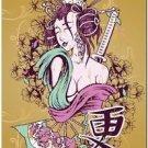 Beautiful Decor Collectible Kitchen Fridge Magnet - Fantasy Japanese Geisha #2