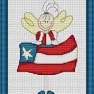 Cross-Stitch Embroidery Color Pattern with DMC thread codes - USA American Angel