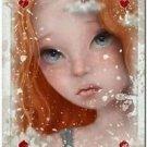 Primitive Country Folk Art Kitchen Refrigerator Magnet ~ Fantasy Card Ladies #2