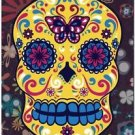 Decor Collectible Kitchen Fridge Magnet - Flower Sugar Skull