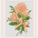 Cross-Stitch Embroidery Color Pattern with DMC codes-Victorian Garden Roses