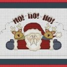 Cross-Stitch Embroidery Color Pattern with DMC thread codes - Ho!-Ho!-Ho!