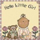Beautiful Cute Decor Design Collectible Kitchen Fridge Magnet ~Hello Little Girl